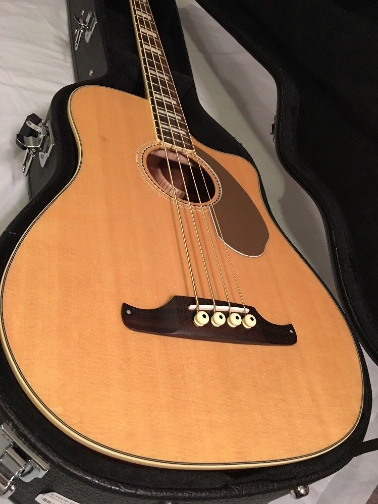 Fender Kingman Bass Sce Acoustic Electric Bass Natural W Hardcase Fishman Ebay Acoustic Electric Electric Bass Bass