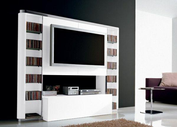 TV Schrank in Weiß Fernsehschrank weiß, Fernsehschrank