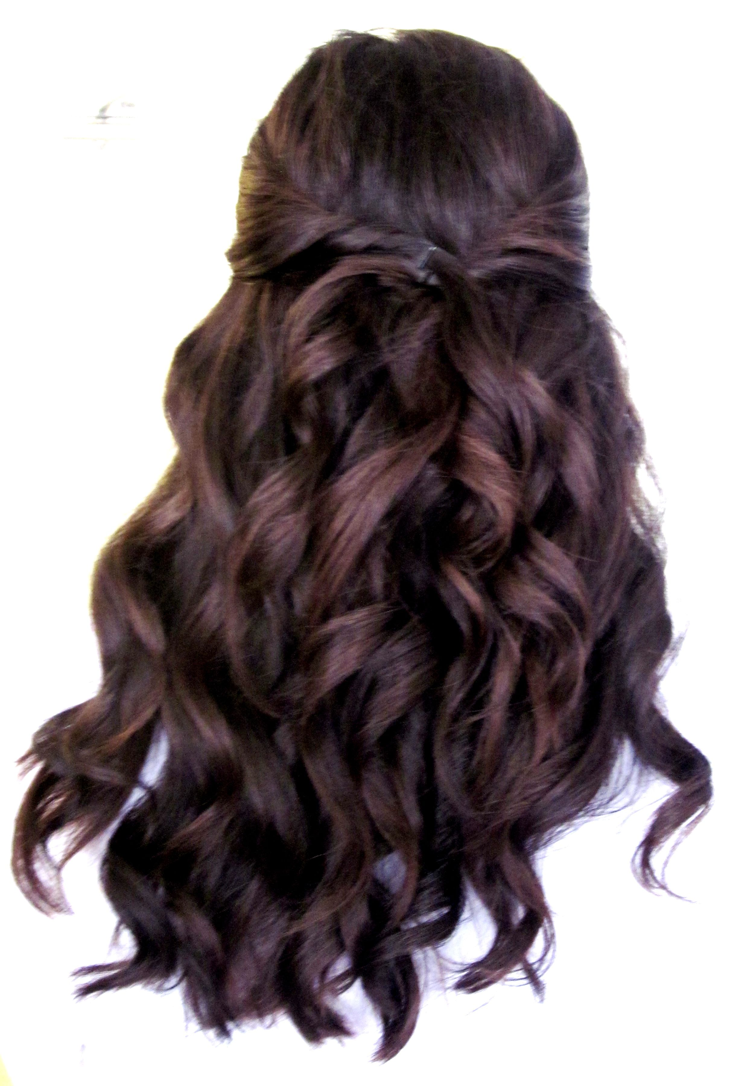 loose curls, a few pinned back one of my favorite hair