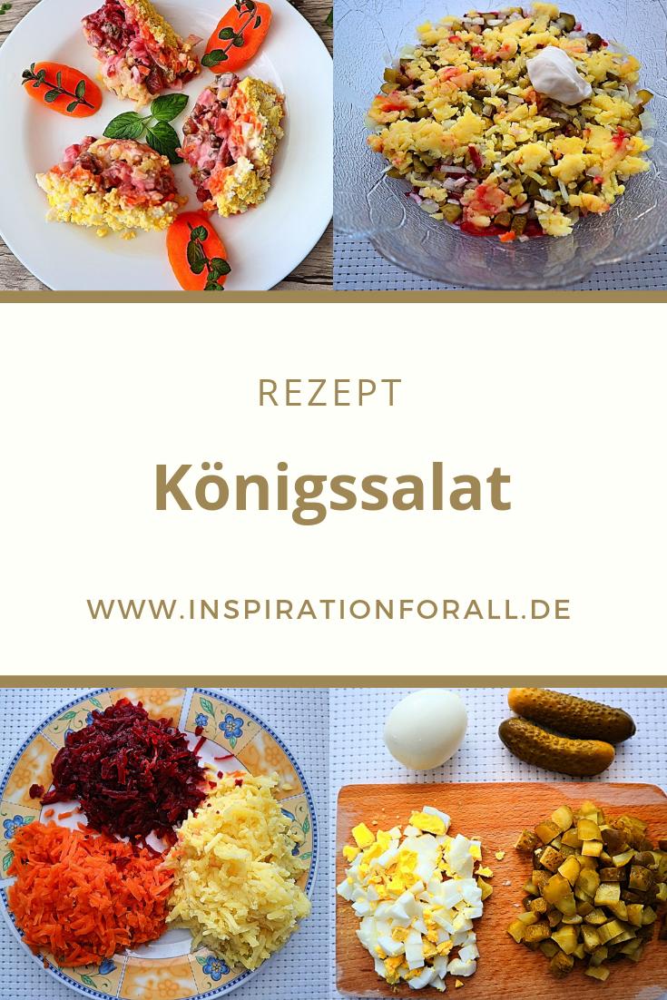 Salat Weihnachten.Russischer Königssalat Rezept