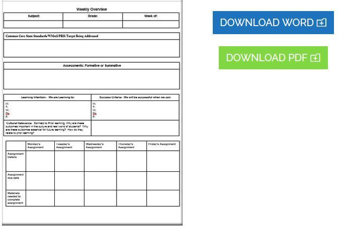 Editable Common Core Lesson Plan Template  Editable Common Core