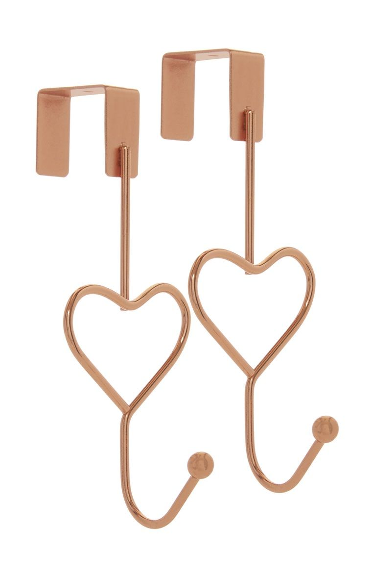 Primark 2pack Over Door Heart Hooks Decor Ideas Doors Bedroom
