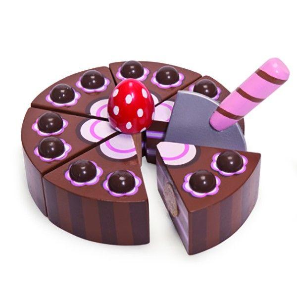 Le coin des créateurs - Gateau au chocolat à découper - Le Toy Van - Les créateurs #lecoindescreateurs #letoyvan #gateauenbois #jouetsenbois