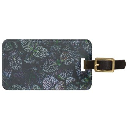 Luminous Neon Leaves Luggage Tag  Pattern Sample Design Template