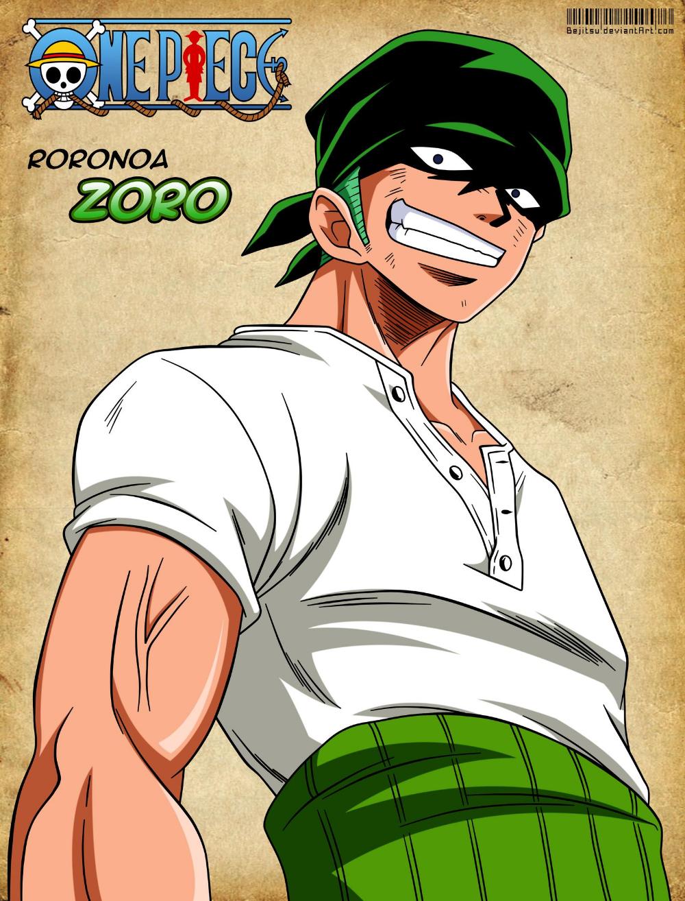 Roronoa Zoro by Bejitsu on DeviantArt em 2020 Animes