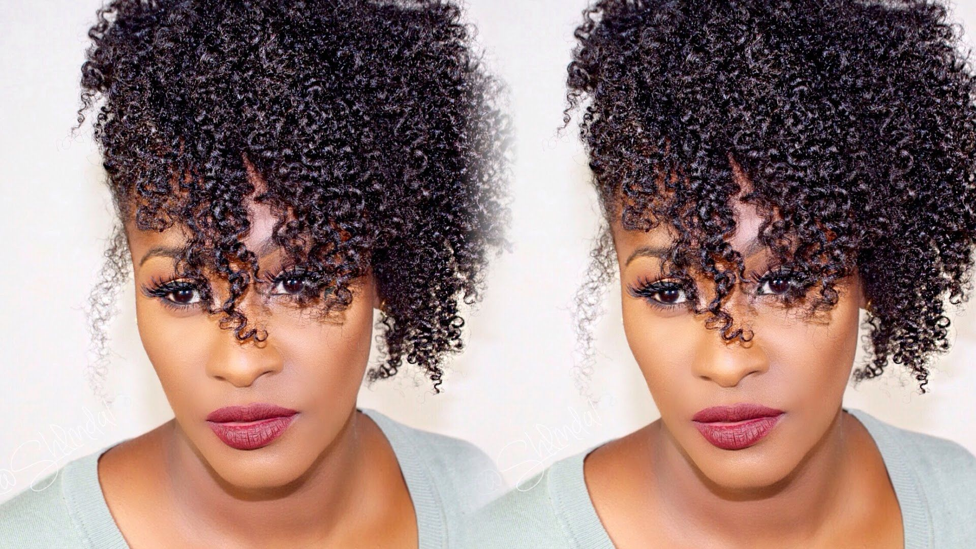 Quick Easy Holiday Hairstyle Wash N Go Side Puff Updo