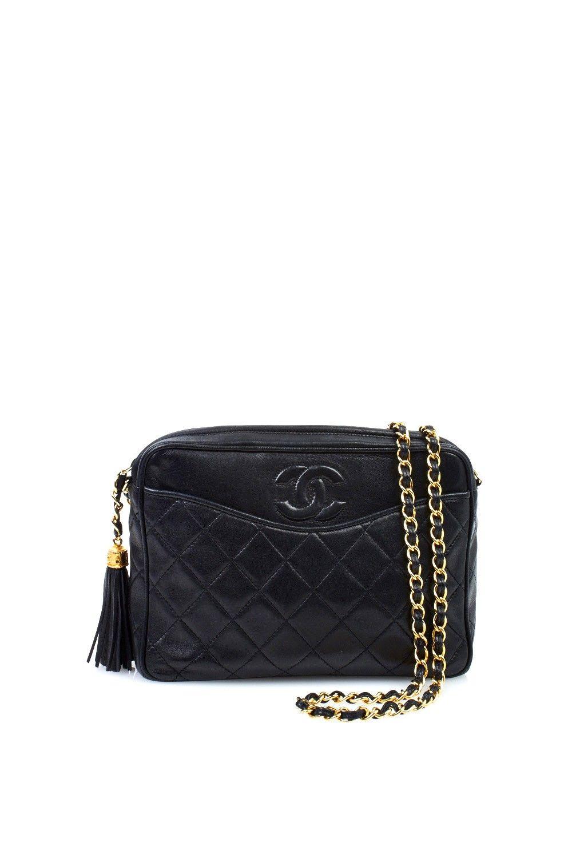 Chanel Black Quilted Tassel Shoulder Bag