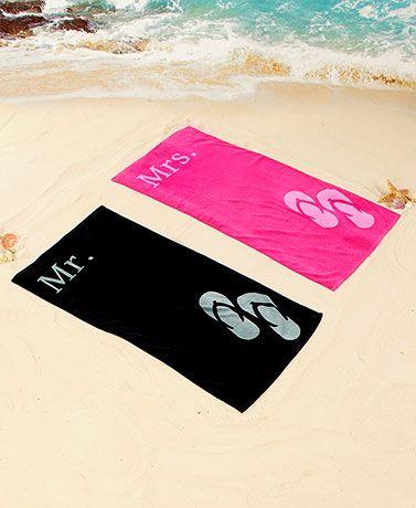 Mr Or Mrs Beach Towels In 2020 Honeymoon Shower Honeymoon