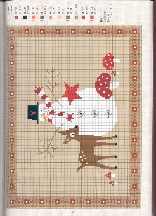 x-stitched snowman & deer Gallery.ru / Фото #60 - 869 - Yra3raza ...