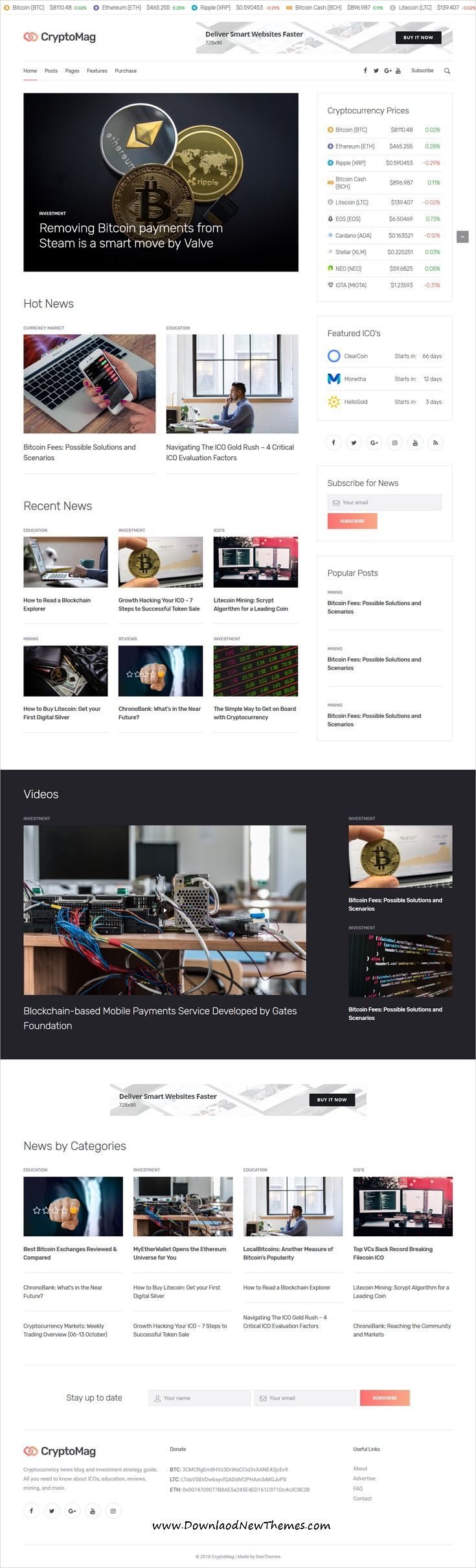 CryptoMag | Cryptocurrency Magazine HTML Template | Cryptocurrency ...