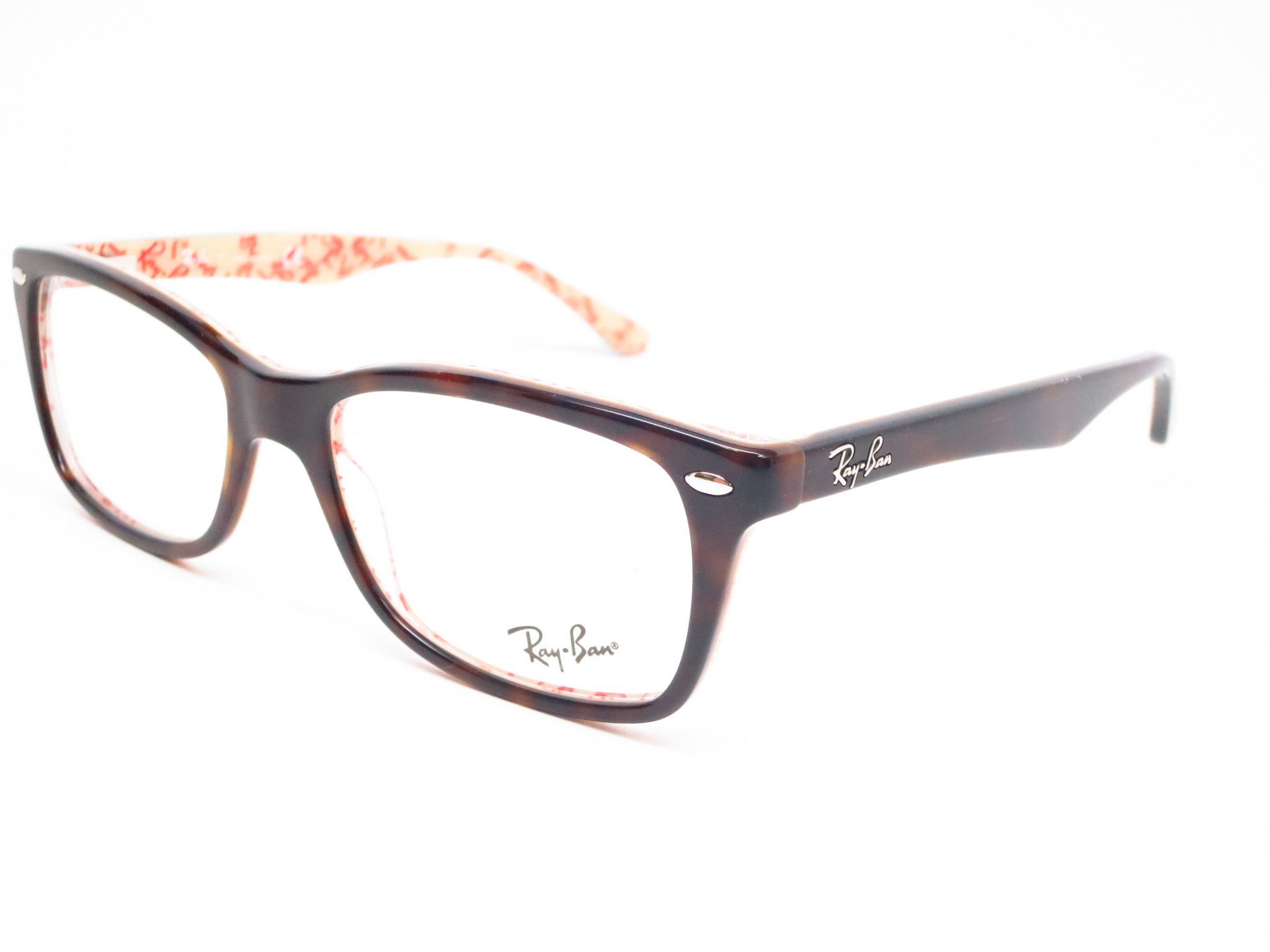 Ray-Ban RB 5228 Dark Havana on Beige Text 5057 Eyeglasses | Things I ...