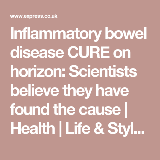 Inflammatory bowel disease CURE on horizon: Scientists
