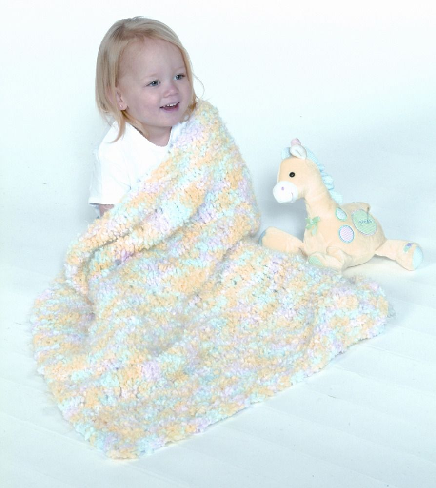 Fast Baby Blanket in Plymouth Heaven - F132 | Knitting Patterns ...