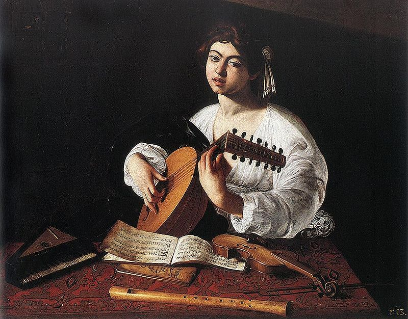 1596 Caravaggio, The Lute Player The Hermitage, St. Petersburg