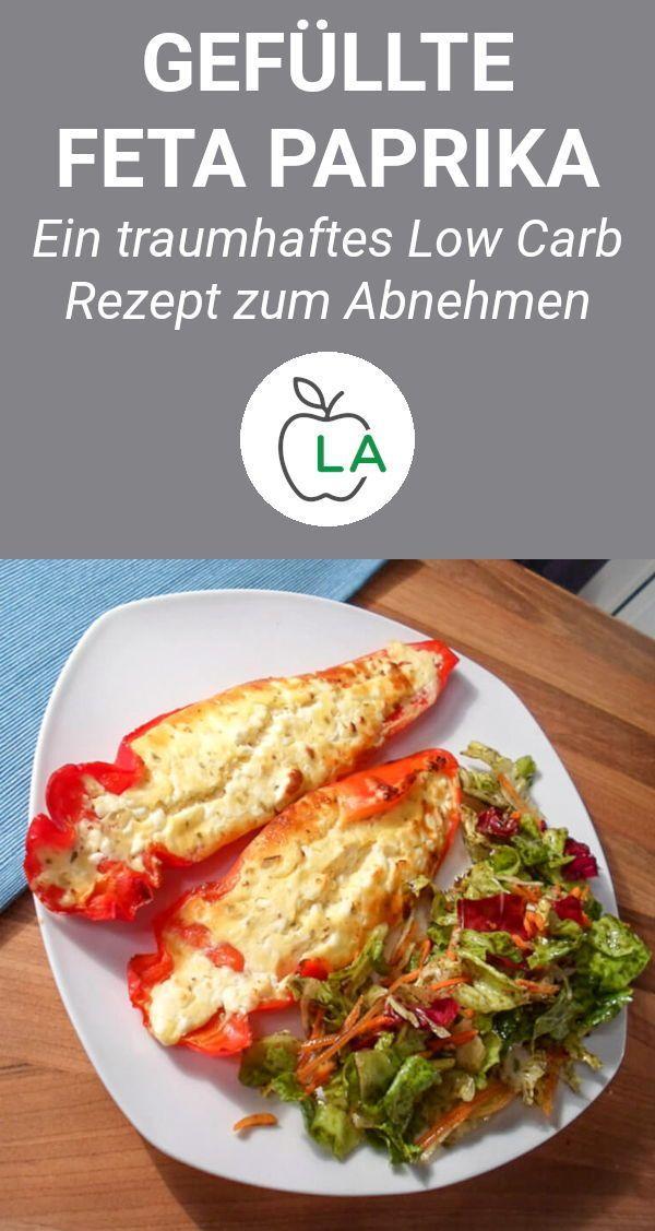 Gefüllte Paprika vegetarisch - Low Carb Rezept zum Abnehmen