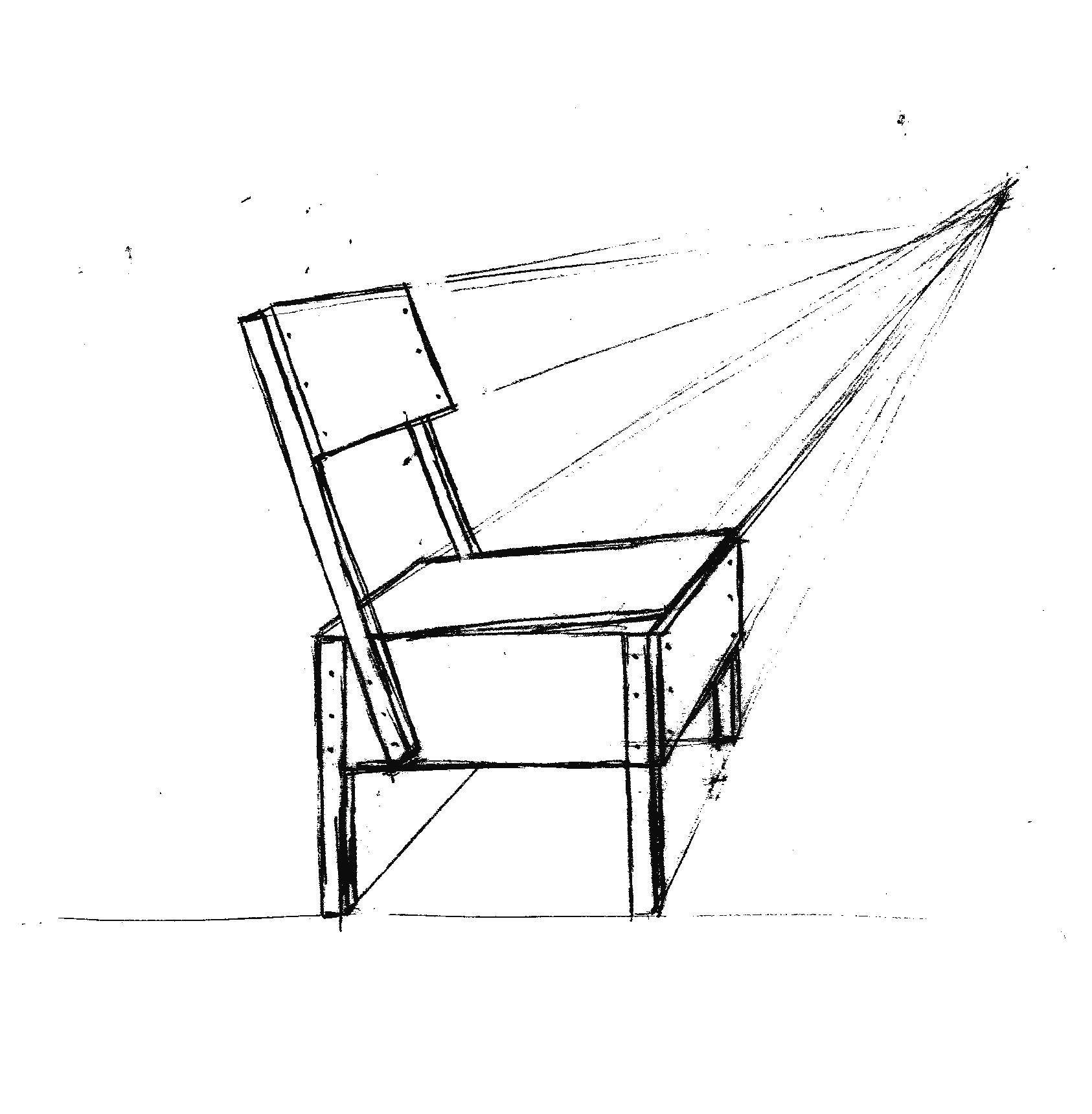 Silla A Un Punto De Fuga Punto De Fuga Dibujo De Arquitectura Anatomia Para Artistas