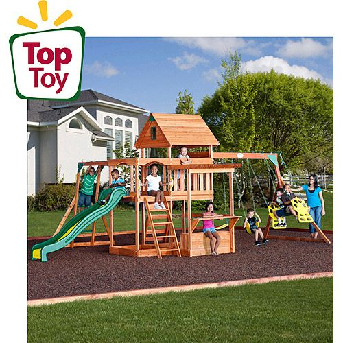 Backyard Discovery Monticello Cedar Swing Set For The Yard
