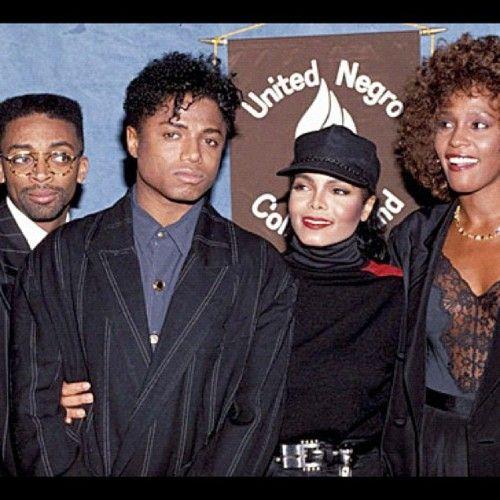 L R Spike Lee Randy Jackson Janet Jackson And Whitney Houston At
