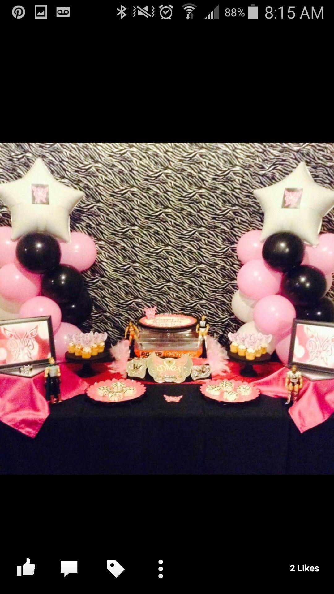 WWE Birthday Party Theme Ideas For Girls WWE Divas Party Balloon