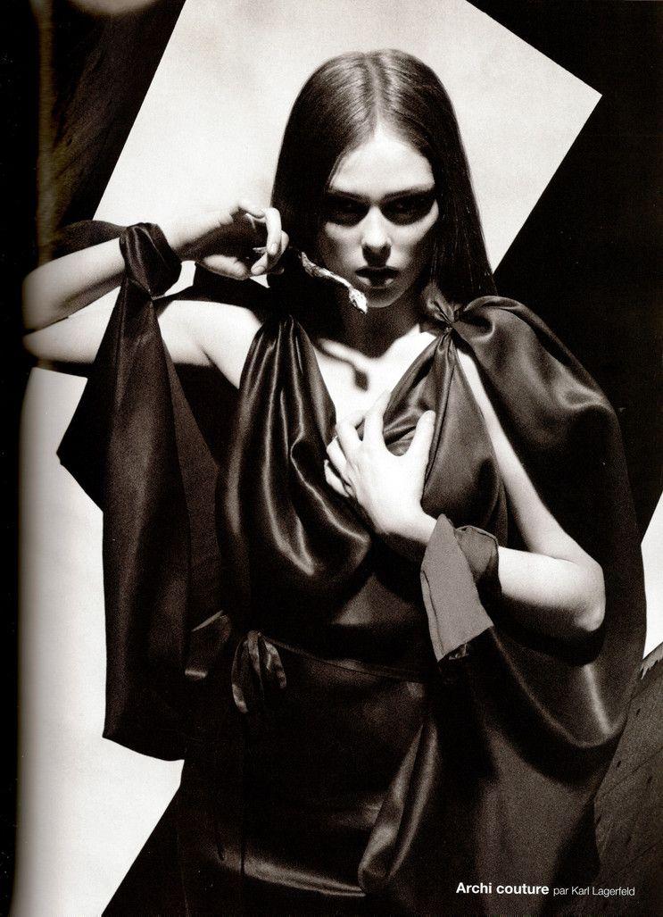 Numéro #91 March 2008 Editorial: Archi Models: Coco Rocha & Siri Tollerød Photographer: Karl Lagerfeld.