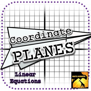 Coordinate PLANES Paper Airplanes from Graphing Linear Equations - lines paper