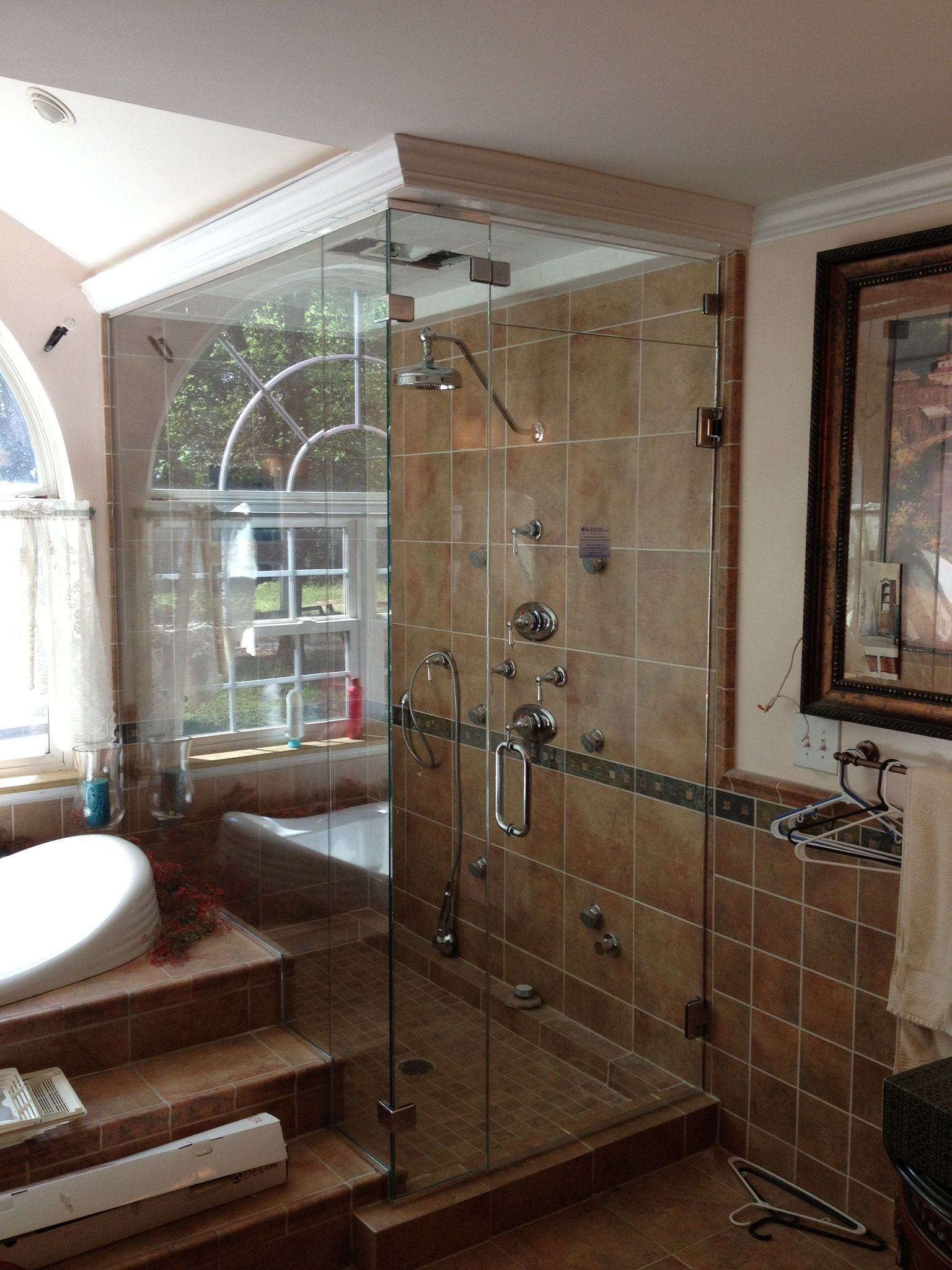 Steam shower enclosure vented with showerguard   Steam Shower ...