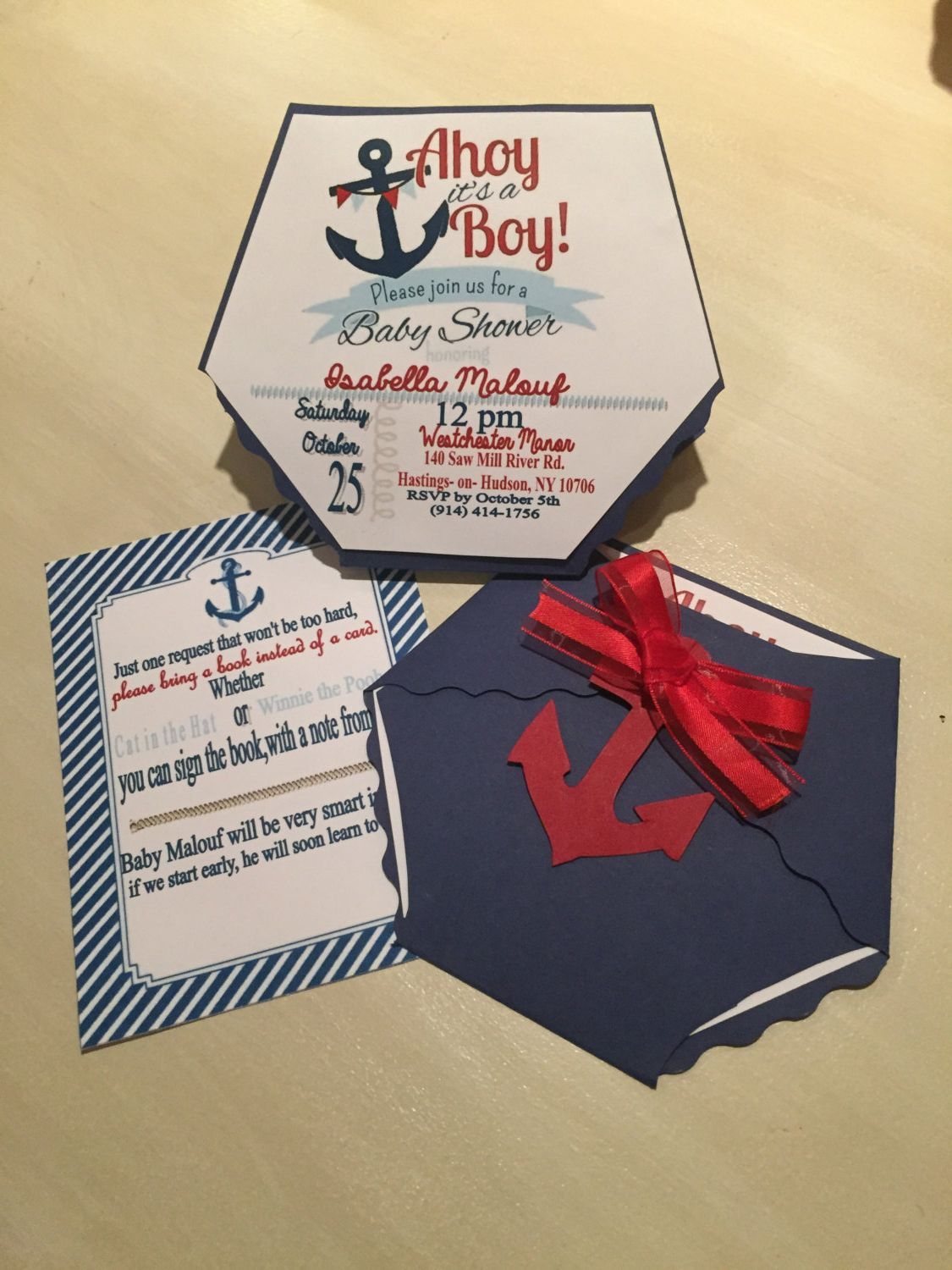 Nautical Diaper baby shower invitation by enchantedeventsbybj on ...