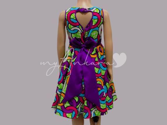Holly African Print Dress, African Girls Dress, Ankara Dress for Girls, African Print Baby Girls Dre #africanprintdresses