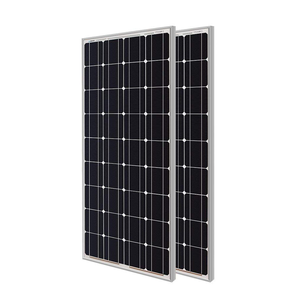 Renogy 2 Pieces 100w Monocrystalline Photovoltaic Pv Solar Panel Module 12v Battery Charging Solar Panels Tall Cabinet Storage Sustainable Living