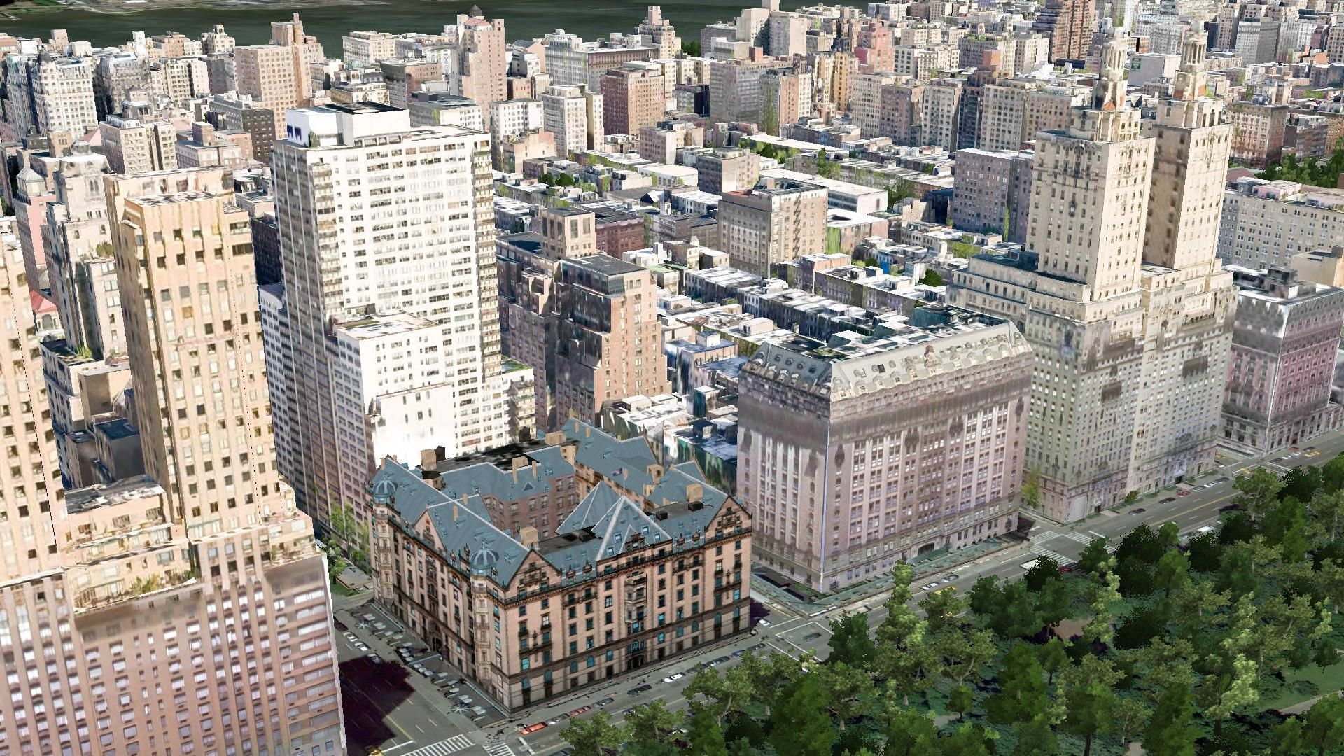 New York City Central Park West From Left To Right The Majestic Dakota Langham And San Remo