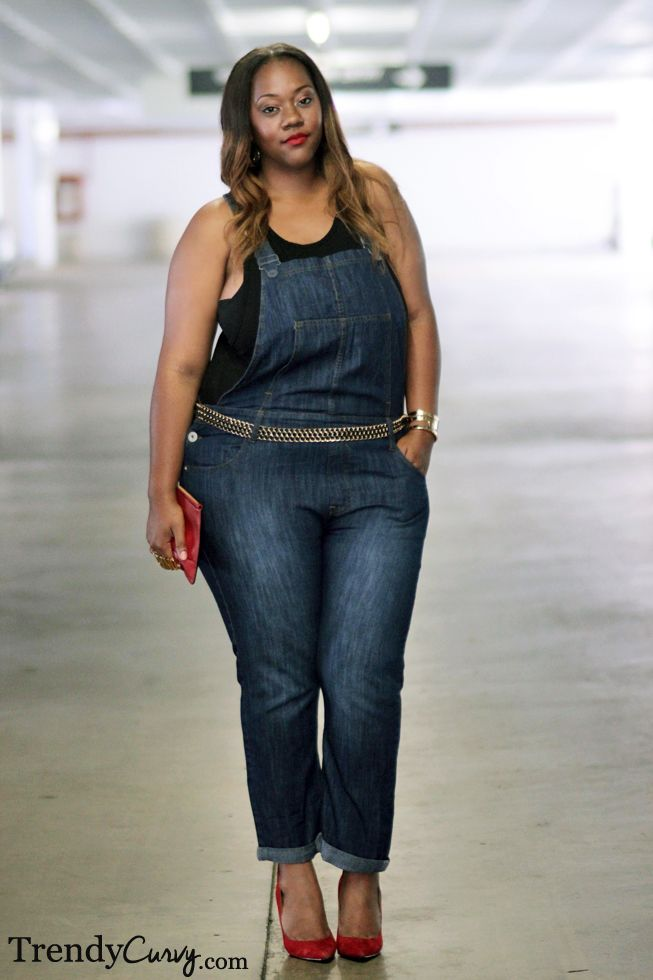 8289a90b2292 Plus Size Denim Overalls  UNIQUE WOMENS FASHION