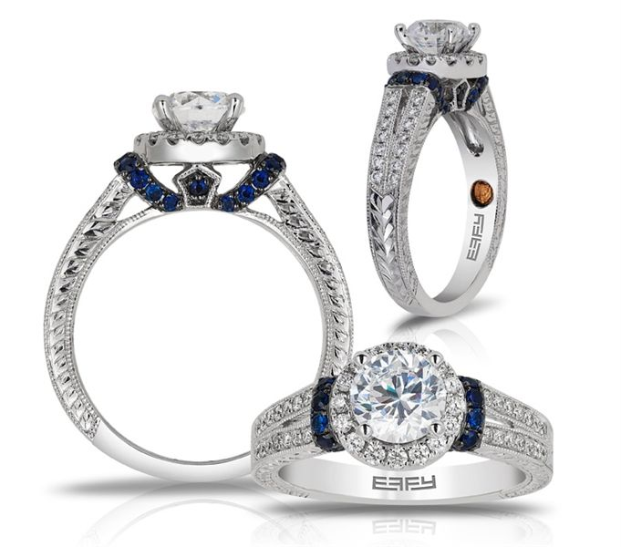 Effy Bridal Shire Accent Diamond Engagement Ring Bride This Except I Want A