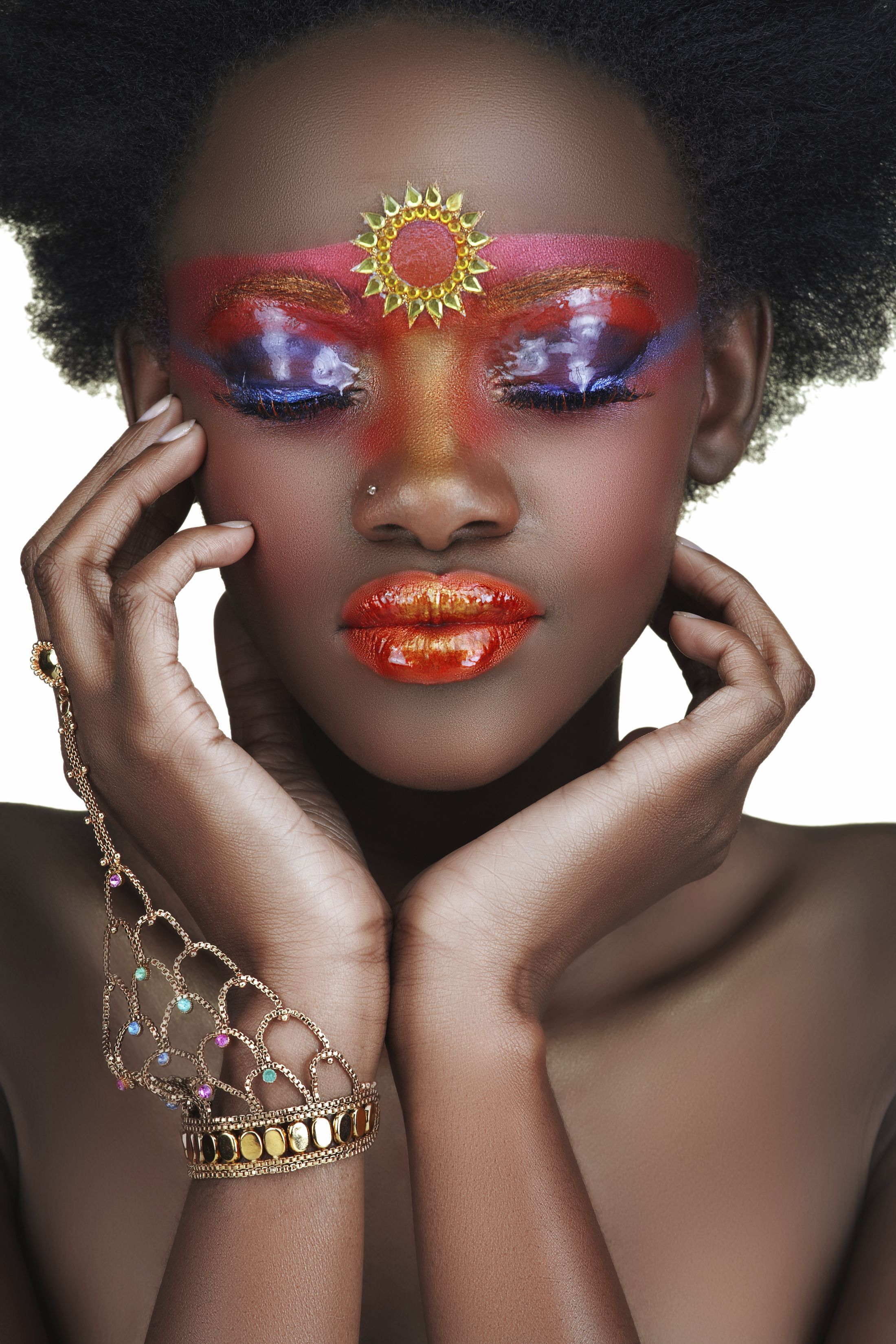 Authentic African Tribal Makeup Make up artists from