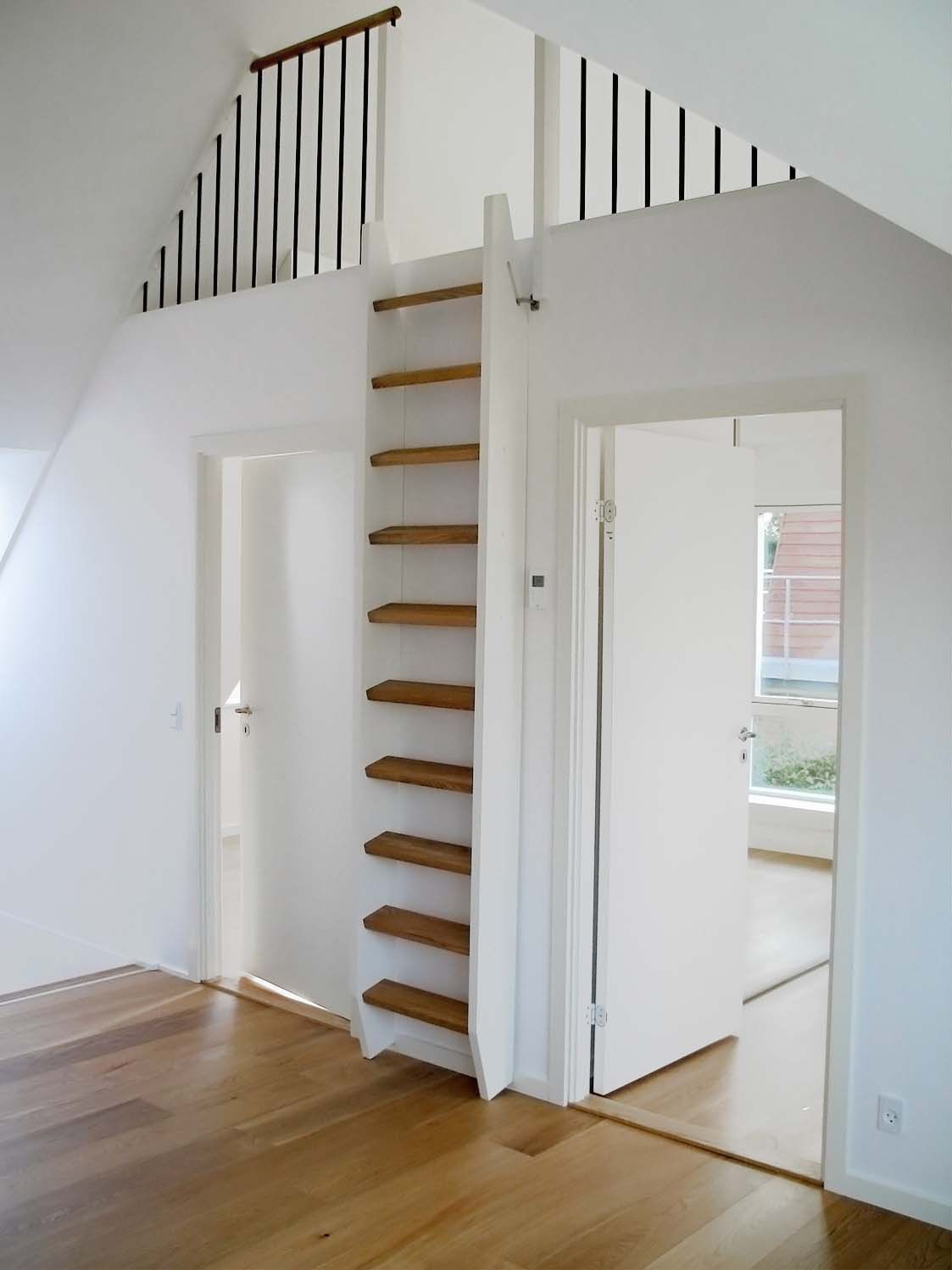Dachboden Wendeltreppe Stairs Makeover In 2020 | Tiny House Stairs, Loft House, Loft Railing