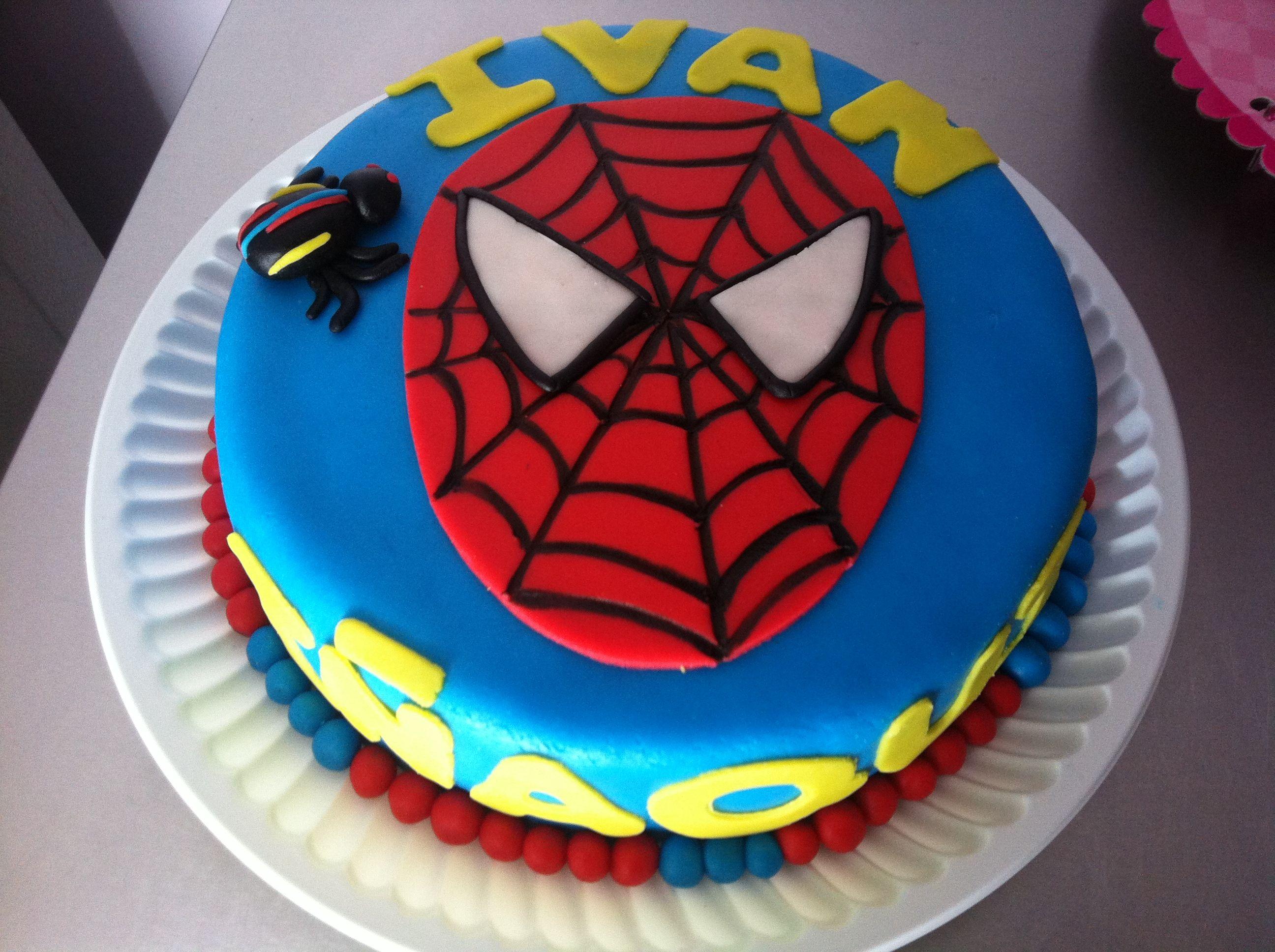 Pastel Spiderman chocolate y fondant Spiderman Cake Pinterest