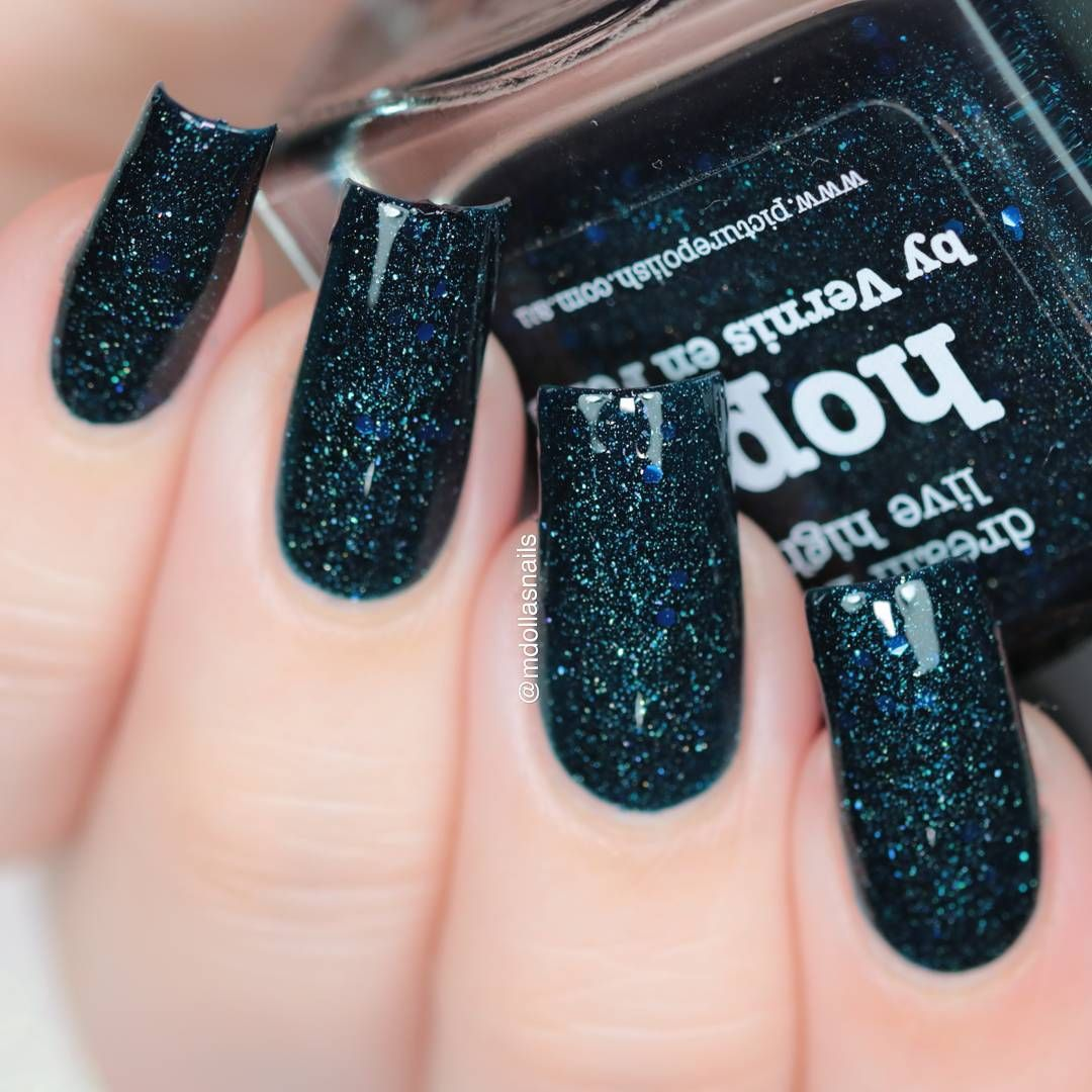 Hope is a dark blue/green teal jelly scattered holo with a ...