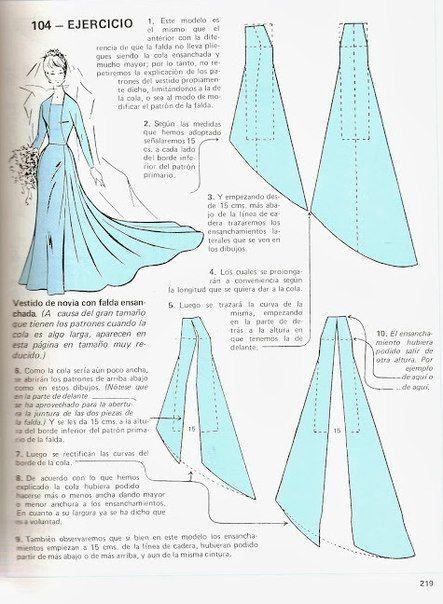 vestido con cauda | costura ideas y moda | pinterest | patrones de