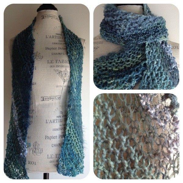 Nobleknits Yarn Shop Prism Layers Stuff Diagonal Scarf Knitting