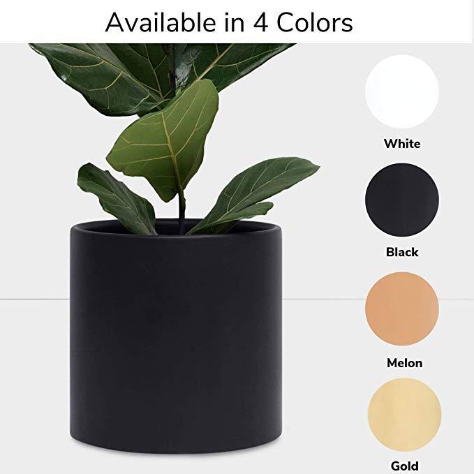 Amazon Com Peach Pebble Ceramic Planter 12 10 8 Or 7 Large Black Plant Pot Hand Glazed Black Ceramic Planter Indoor Flower Pots Ceramic Planters