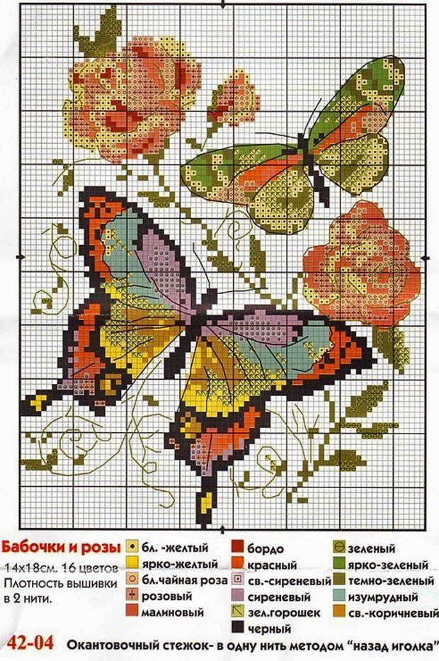 Farfalle punto croce pinterest farfalle punto croce for Farfalle punto a croce