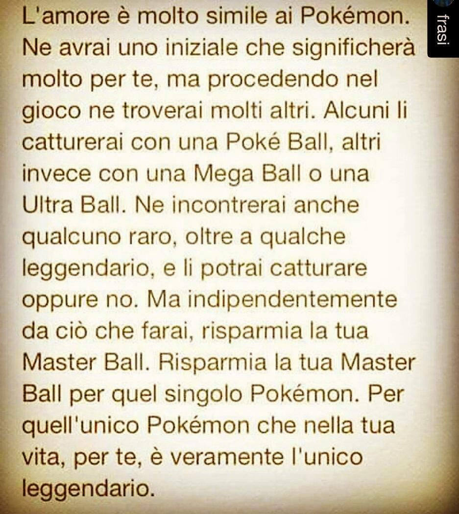 Conserviamo la Master Ball #quote #quotes #lifequotes #quotestags #toptags @top.tags #tumblrquotes #quoteoftheday #quotestagram #song #goodnight #bed #goodnight #photooftheday #star #instagood #nightynight #beautiful #kisses #sensible #instamoment #art #picoftheday #20likes #followbackteam #f4f #love #amour by @carlottamazzei4_ via http://ift.tt/1RAKbXL