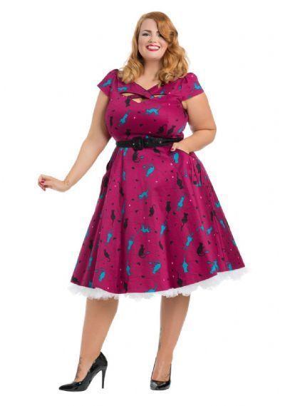 Voodoo Vixen Womens Gloria Fruit Print Dress   A-Line Dress