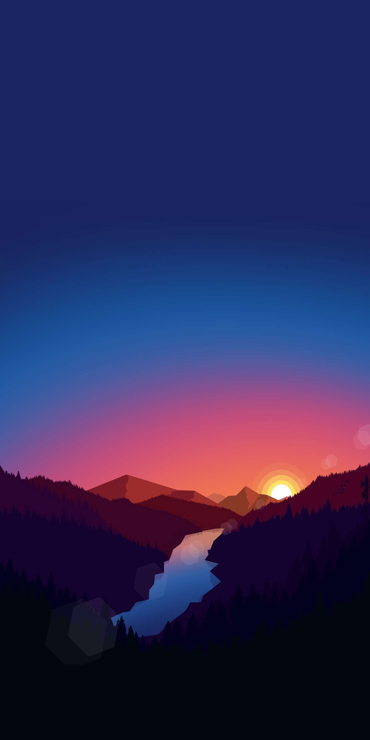 Sunrise View Minimal Nature iPhone Wallpaper # ...