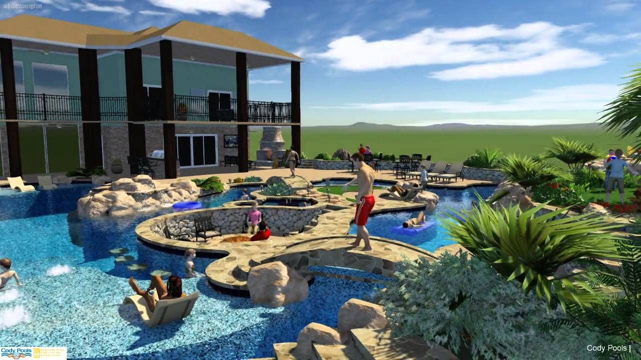 Image result for home lazy river pool lazy river pool