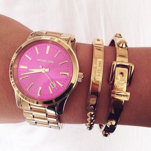 Reloj michael kors rosa dorado | Handbags michael kors, Michael ...