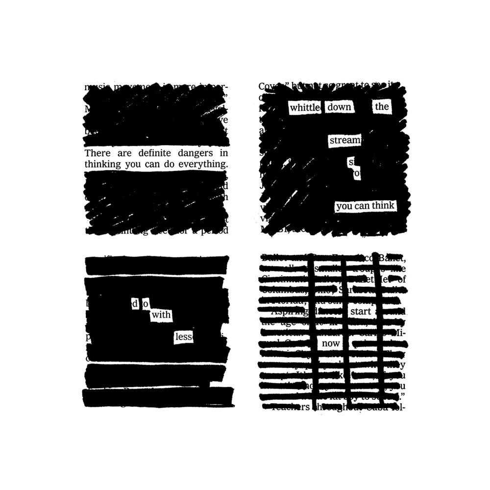 Kleon's first book, Newspaper Blackout (2010), started with a deliberate  process: crossing out words in newspaper articles to make poems.