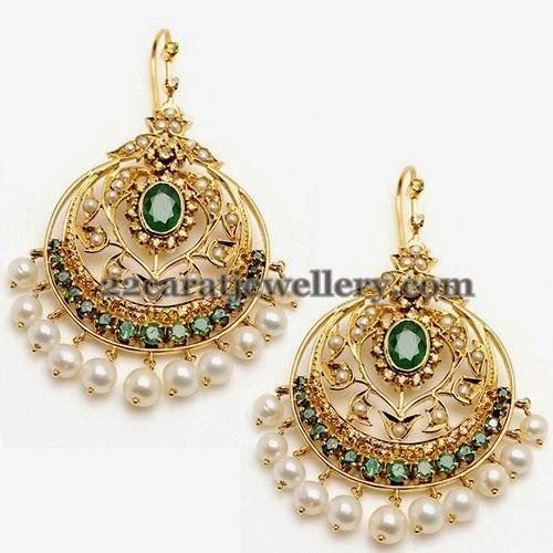 9d87c3549a680 Mughal Inspired Chandbalis | jewels | Jewelry, Earrings, Indian earrings