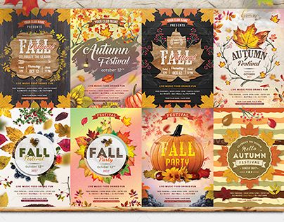 Check Out New Work On My Behance Portfolio  AutumnFall Flyer