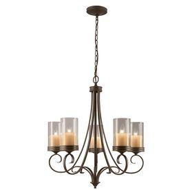 amusing kitchen chandelier lighting | Portfolio 5-Light Olde Bronze Chandelier kitchen island ...