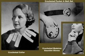 Vintage crochet pattern book